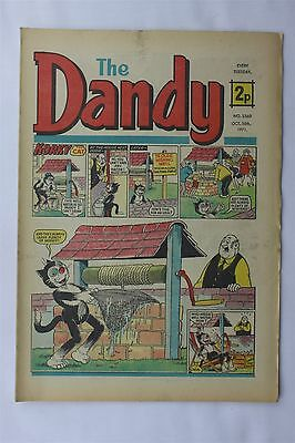 The Dandy 1560 October 16th 1971 Vintage UK Comic Korky The Cat Desperate Dan