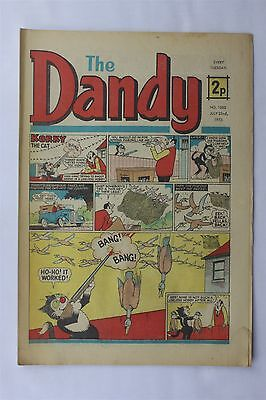 The Dandy 1600 July 22nd 1972 Vintage UK Comic Korky The Cat Desperate Dan
