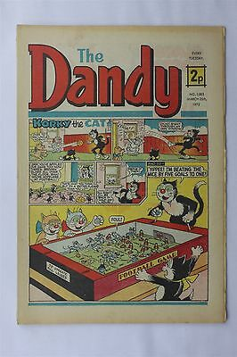 The Dandy 1583 March 25th 1972 Vintage UK Comic Korky The Cat Desperate Dan