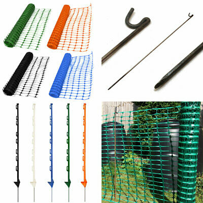 Plastic Barrier Safety Mesh Fence Netting Net Event Fencing Pins, BIGGEST CHOICE