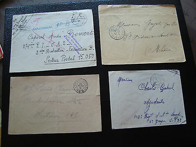 FRANCE - 4 enveloppes franchise (cy65) french
