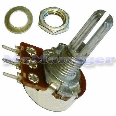 20K ohm Log/Logarithmic Mono/Single Gang Mixer/Volume Splined  Potentiometer/Pot