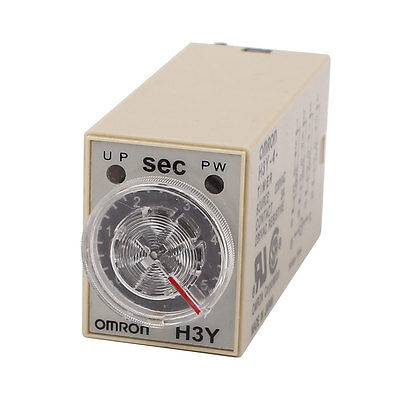 H3Y-4 Timer AC 220V 3A 14 Terminals Connector 3 Minutes Time Delay Relay