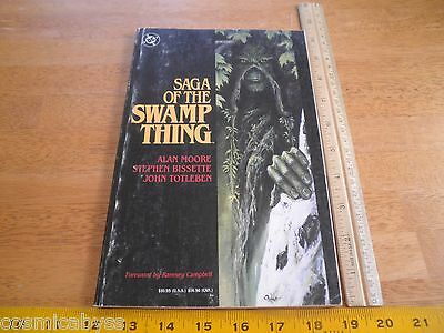 Saga of the Swamp Thing Alan Moore TPB 1987 1st print