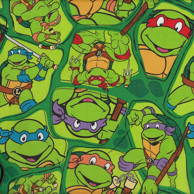 Teenage Mutant Ninja Turtles Kids Licensed Quilt Fabric FQ or Metre *New*
