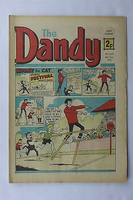 The Dandy 1619 December 2nd 1972 Vintage UK Comic Korky The Cat Desperate Dan