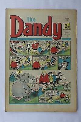 The Dandy 1617 November 18th 1972 Vintage UK Comic Korky The Cat Desperate Dan