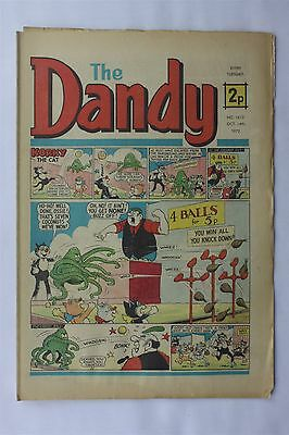 The Dandy 1612 October 14th 1972 Vintage UK Comic Korky The Cat Desperate Dan