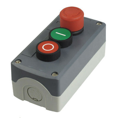 240V 3A Emergency Stop Momentary Green Red Flat Pushbutton Control Switch SPST
