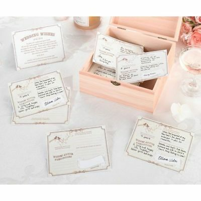 """Wedding Wishes Cards as Guest Book 5.5"""" by 4.25"""" Cards Tan Set of 48"""