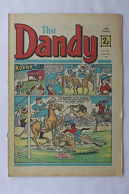 The Dandy 1634 March 17th 1973 Vintage UK Comic Korky The Cat Desperate Dan