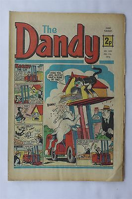 The Dandy 1630 February 17th 1973 Vintage UK Comic Korky The Cat Desperate Dan