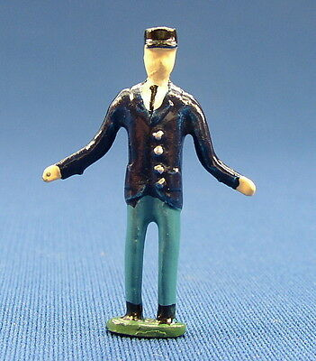Pewter Railroad Figure People Worker Man/ Conductor Nos S Scale Train Layout