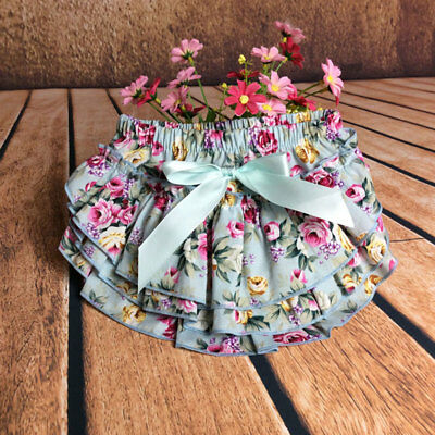 Baby Girl Toddler Bloomer Diaper  Nappy Cover Shorts Bottoms Cotton Flower