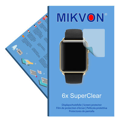 6x Mikvon SuperClear Displayschutzfolie für Apple Watch Edition 42mm