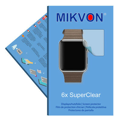 6x Mikvon SuperClear Displayschutzfolie für Apple Watch 42mm unsichtbar Germany