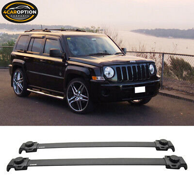 Fits 07-15 Jeep Patriot OE Style Top Roof Rack Cross Bar 2Pcs Black Crossbar