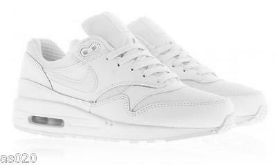 f6e5c9d6c15a7e NEW Nike Air Max 1 Essential Kids Girls Boys Junior Shoes Trainers - All  White