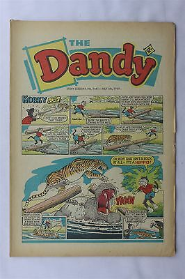 The Dandy 1441 July 5th 1969 Vintage UK Comic Korky The Cat Desperate Dan