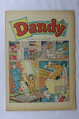 The Dandy 1511 November 7th 1970 Vintage UK Comic Korky The Cat Desperate Dan