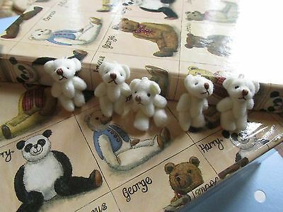 Miniature Soft Plush Teddy Bears Ideal Party Bags/Gift/Wedding Favor/Baby Shower