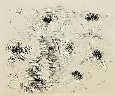 RAOUL DUFY-French Modernist-Hand Numbered LIM.ED Etching-Flowers