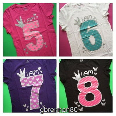 NEW 5th 6th 7th 8th Girls BIRTHDAY Shirts 5 6 7 8 Years