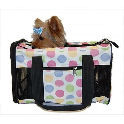 Anima International Dog Cat Pet Carrier Travel Bag Airline Approved Dots Small