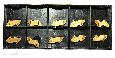10 PCS RISHET TOOLS NG 3094R C5 TiN Coated Notched Grooving Carbide Inserts
