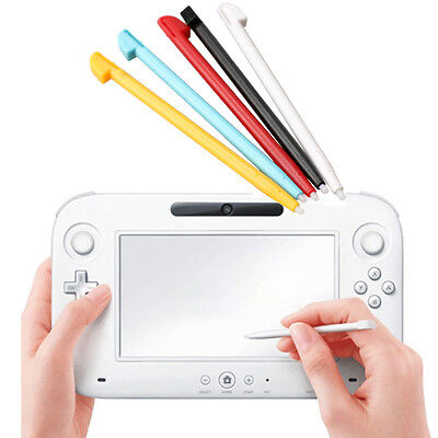 5pcs Multi-color Plastic Stylus Touch Screen Pen for Nintendo Wii U Game Console