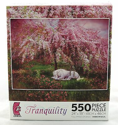 Where Unicorns Dream Tranquility 550 Piece Jigsaw Puzzle Carol Cavalaris NEW Art