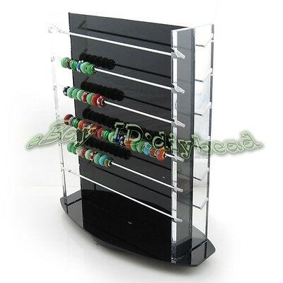 1x Hot Sale Charms Beads Revolving Acrylic Display Stand Jewelry Displays J