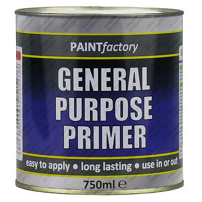 750ml Long Lasting General Purpose Primer Paint Can Easy Apply Indoor Outdoor
