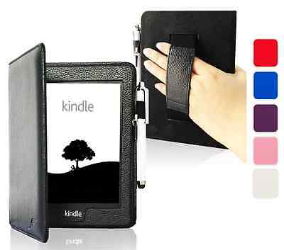 Leather Strap Smart Case Cover for Amazon Kindle Paperwhite 2015