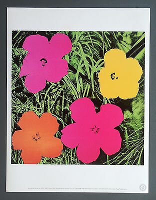 Andy Warhol Foundation Limited Edition Offset Lithography 31x40cm Flower 1964