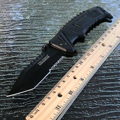 Tac Force Tanto Point Spring Assist Tactical Folding Pocket Knife 8.5""