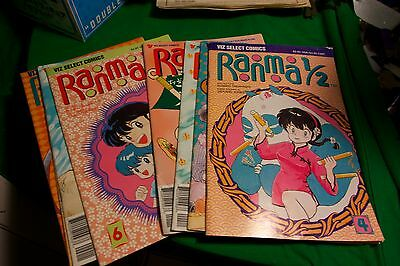 Lot of 8 Viz Select Comics Ranma 1/2 by Rumiko Takahashi