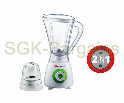 400w Electric Multi Food Blender With Grinder Smoothie Processor Liquid GREEN