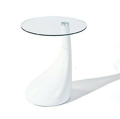 Links 99101110 Vito Table d'Appoint Verre Blanc 45 x 45 x 54 cm NEUF