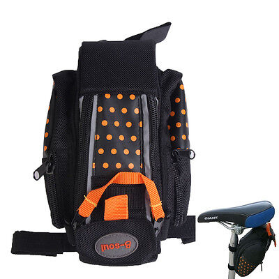 Outdoor Bike Bicycle Cycling Saddle Bag Large Tail Rear Pouch Seat Storage Bag