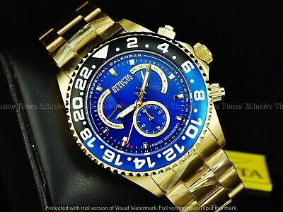 Invicta Men Specialty Reserve Tonneau Swiss ISA Master Calender 18KGIP Watch