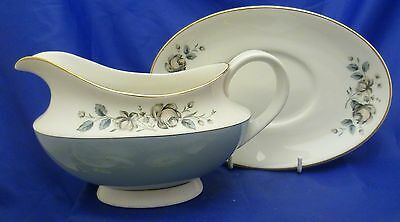 A Royal Doulton 'rose Elegans' Gravy Boat And Stand