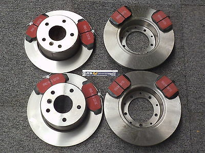 Land Rover Discovery 2 Front and Rear  Brake Discs and EBC Pad Kit DA3300