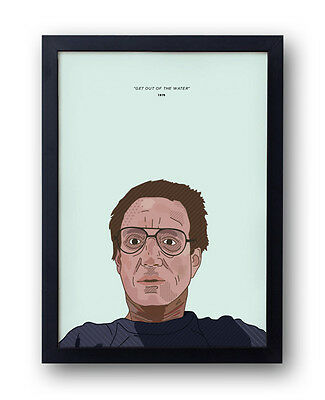Get Out Of The Water! Jaws inspired poster. Roy Scheider, Steven Spielberg