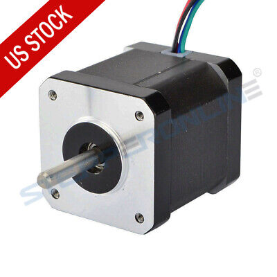 US Ship 0.9deg Nema 17 Stepper Motor Bipolar 2A 65oz.in 42x42x48mm 4-wires DIY