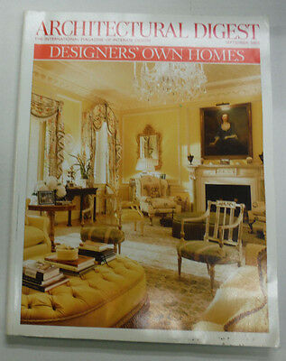 Architectural Digest Magazine Designers' Own Homes September 2005 063015R