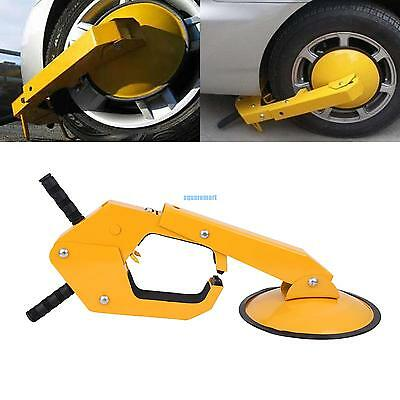 Parking Boot Car Truck Tire Claw Wheel Clamp Lock Anti Theft Rubber Handle