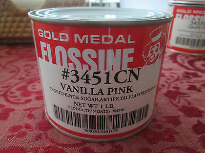 Gold Medal Flossine Vanilla Pink 1 lbs. 3451CN NEW Cotton Candy US