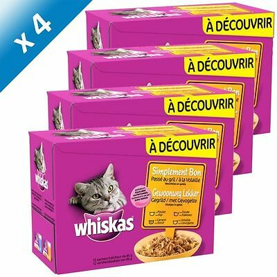WHISKAS Gril Volaille 12x85g (x4) - Lot de 4 - Gril Volaille 12x85g NEUF