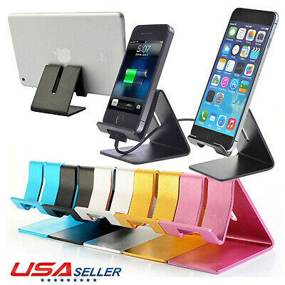 Universal Aluminum Desktop Desk Stand Holder Mount For Cell Phone and Tablet